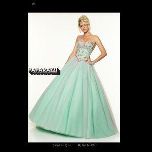 Mori Lee Bubblemint Prom Dress